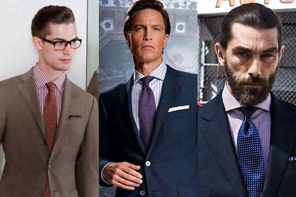 Рубашка в полоску и галстук, Look