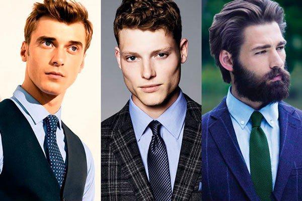 Подбираем галстук к синей рубашке, лук 1