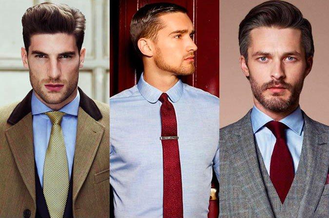 Подбираем галстук к синей рубашке, лук 2