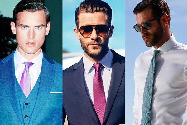 Подбираем галстук к белой рубашке, лук 1