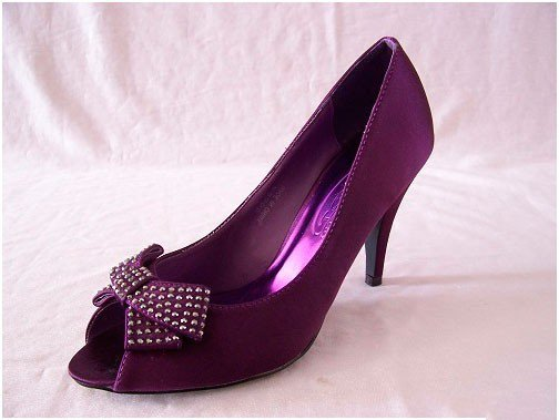 Фиолетовые туфли с бантиком