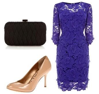 Аксессуары для кружевного, фиолетового платья