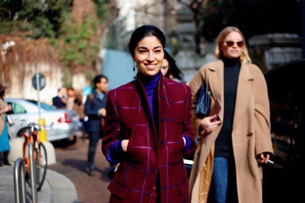 Caroline Issa в пальто от Ermanno Scervino. Неделя моды в Милане осень/зима 2015