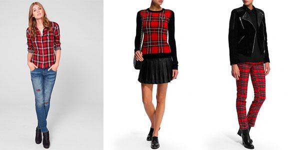 Девушки-в-одежде-красной-шотландской-ткани