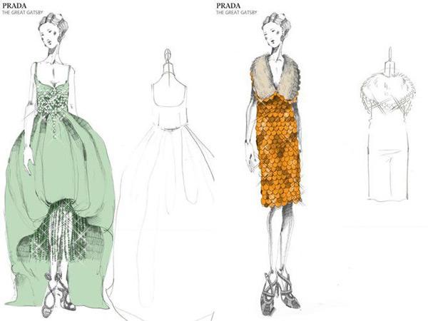 Эскизы платья в стиле Великий Гетсби