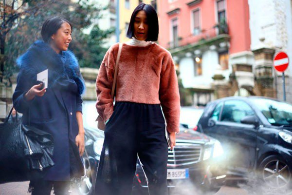 Eva Chen в одежде от Alberta Ferretti. Неделя моды в Милане осень/зима 2015