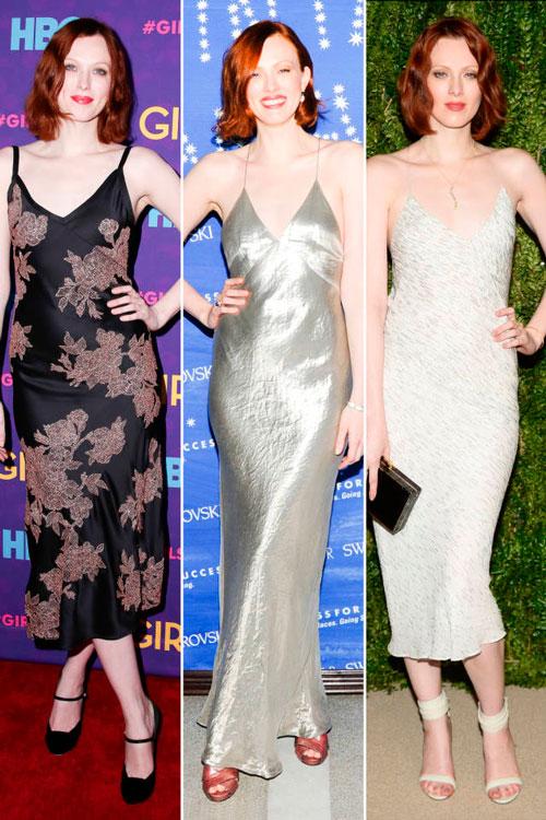 Карен Элсон в элегантных платьях