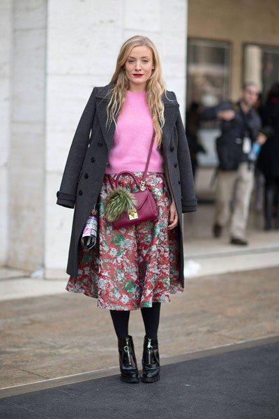 Kate Foley с сумкой от Mark Cross и обуви от Prada