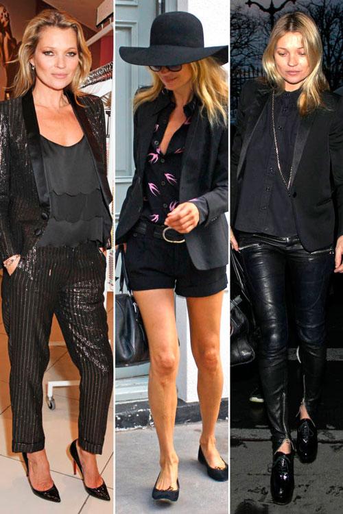 Кейт Мосс в пиджаке
