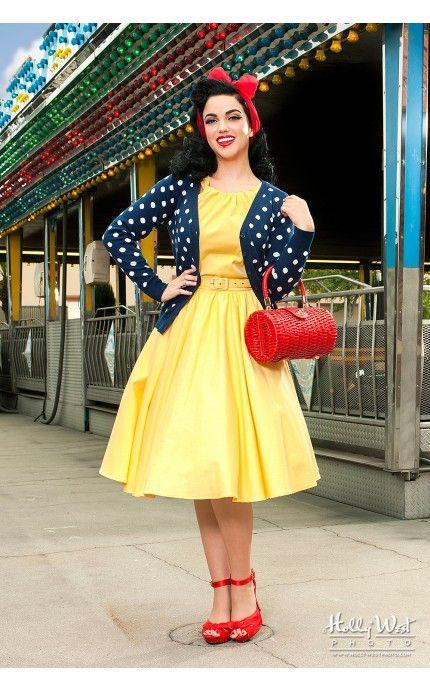 Платье 70-х в горошек