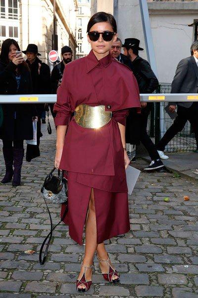 Miroslava Duma на неделе моды осень/зима 2014/2015 в Париже