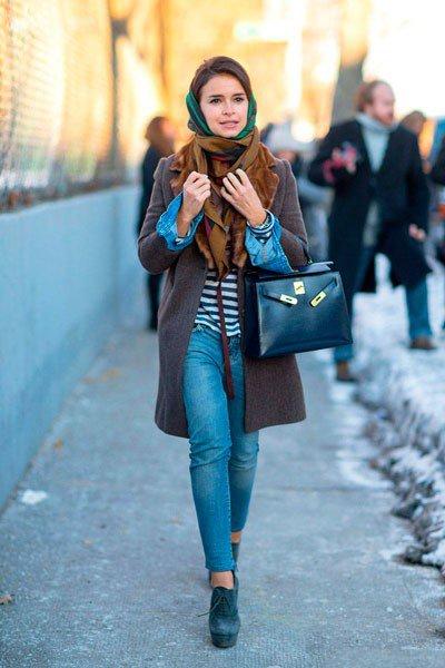 Miroslava Duma с сумкой от Hermes