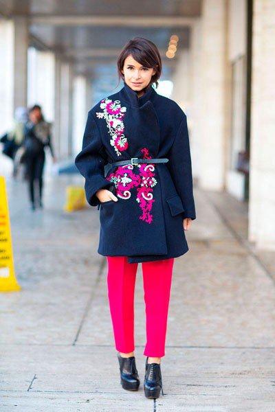Miroslava Duma, ее пальто, с принтом, просто восхитительно