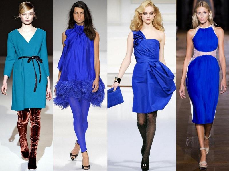 Синий цвет платья с какими туфлями можно одеть