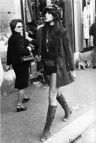 Модная девушка 70-х годов 20 столетия