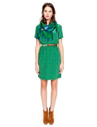 Отлино украсит образ сине зеленый шарф хомут