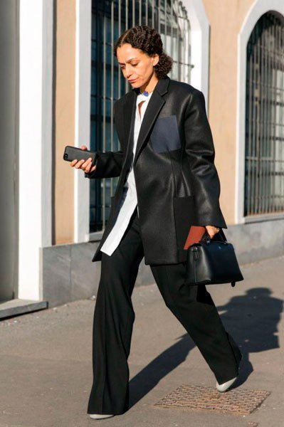 Samira Nasr в одежде от Missoni. Неделя моды в Милане осень/зима 2015