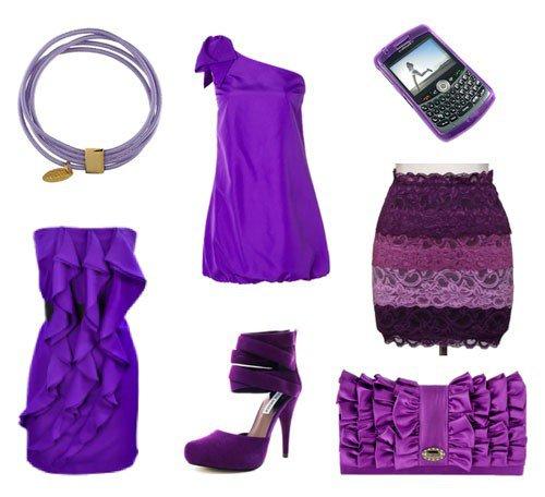 Сочетайте фиолетовое платье с туфлями-лодочками (pumps)