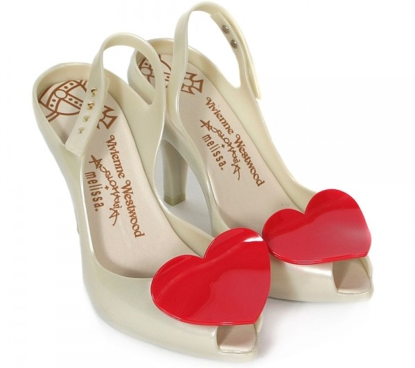 Босоножки на каблуках Vivienne Westwood for Melissa Red Heart Lady Dragon