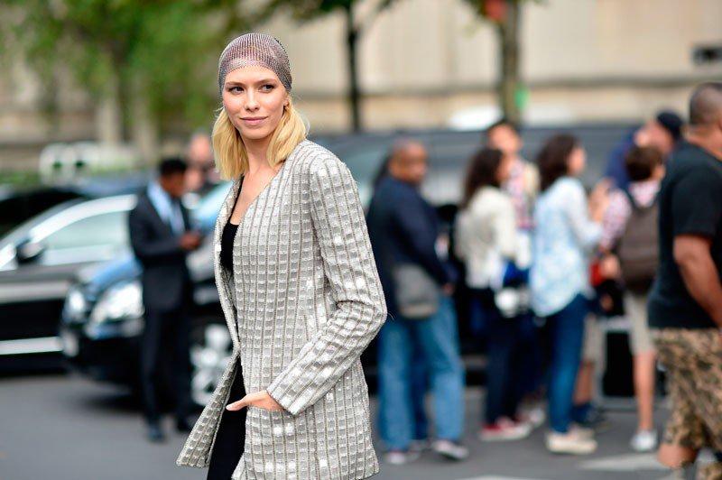 Елена Перминова на неделе моды в Париже весна/лето 2015