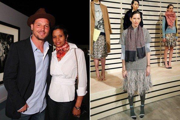 Кейша Чэмбрес со стильным платком на шее в Лос-Анджелесе