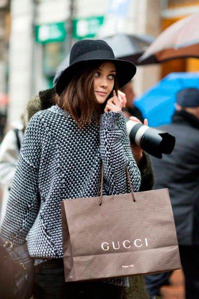 Девушка в Gucci. Неделя моды в Милане осень/зима 2015