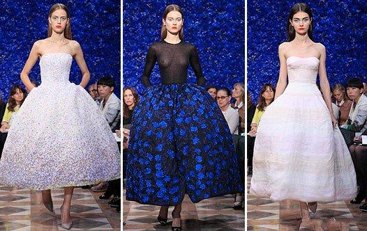 Девушки в пышных платьях от Диор в стиле Нью Лук