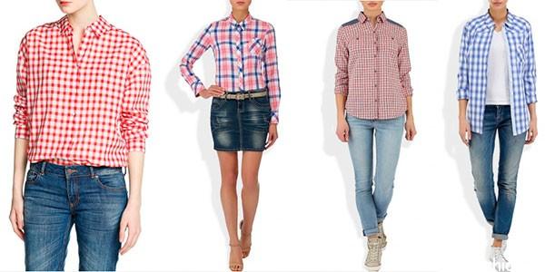 Классные рубахи в клетку для девушек 2014