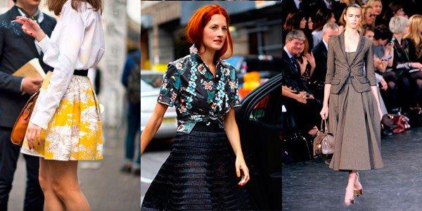 Юбка-колокол – чудесное решение для делового костюма. Она прекрасно подойдет к рубашке или белой блузе