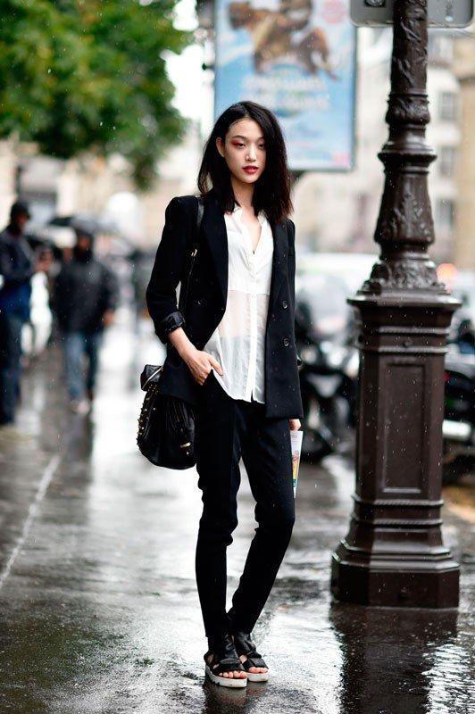 Sora Choi на неделе моды в Париже весна/лето 2015