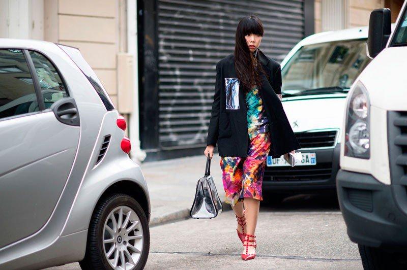 Сьюзи Лоу на неделе моды в Париже весна/лето 2015