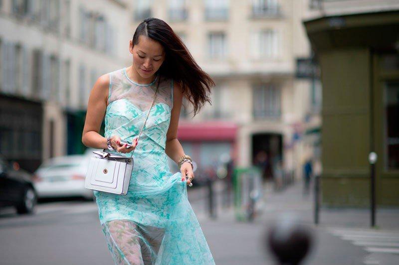 Tina Leung на неделе моды в Париже весна/лето 2015