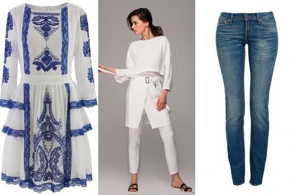 платье, джинсы, брюки вшитые в юбку