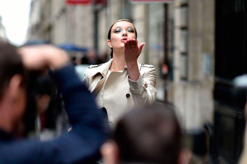 Юми Ламберт на неделе моды в Париже весна/лето 2015