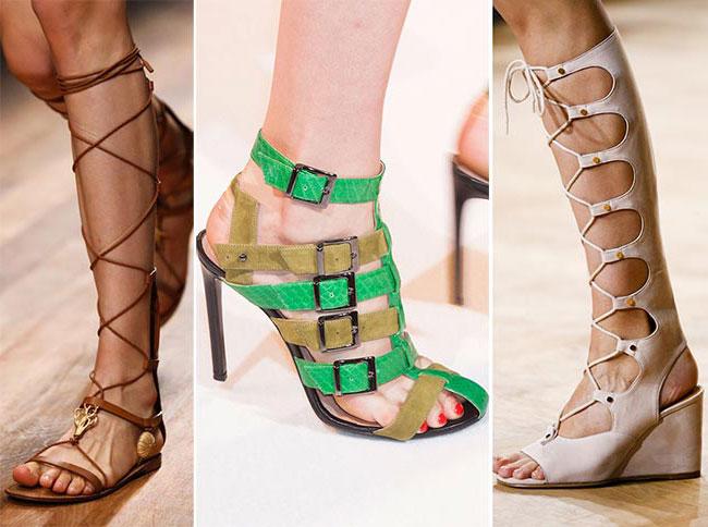 Гладиаторские сандали - тенденции весна-лето 2015