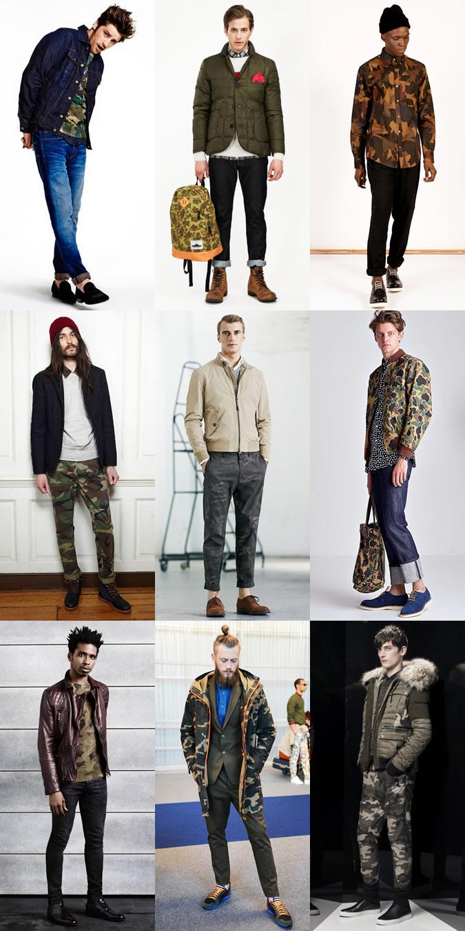 Мужчины в одежде с элементами камуфляжа, в стиле милитари