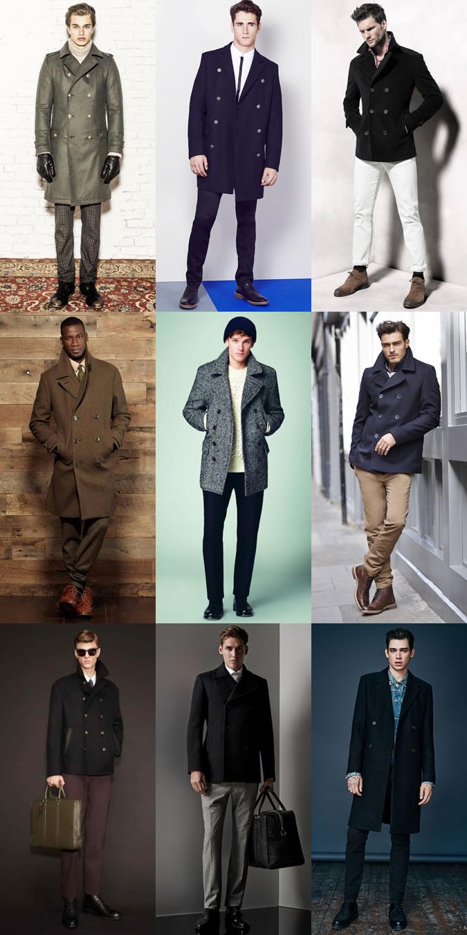 Мужчины в пальто в стиле милитари