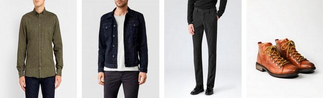 Сочетание зеленой рубашки с джинсовой курткой