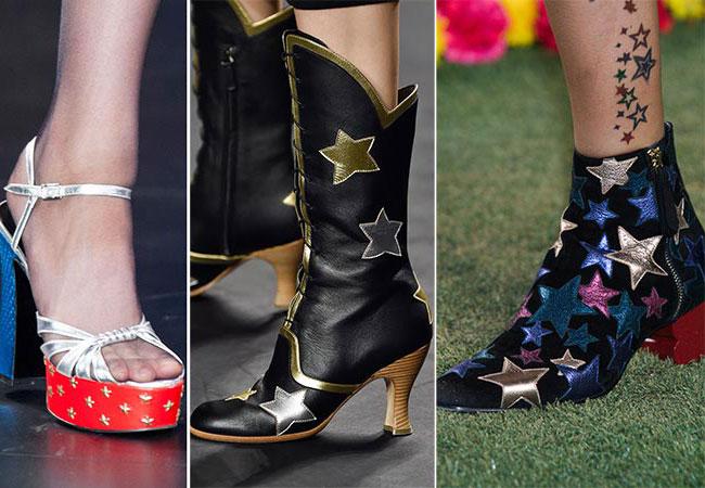 Звездочки на обуви - тенденции весна-лето 2015