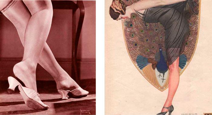 Чулки на ногах, 1920-е года