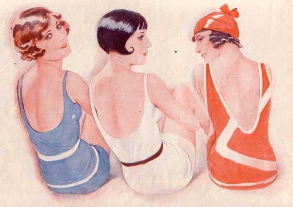 Девушки в купальниках, 20 года 20 века