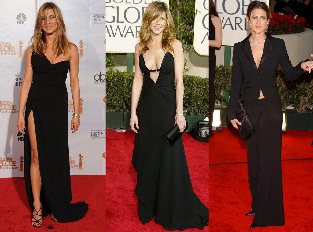 Дженнифер Энистон в платьях от Valentino и костюме от Dior