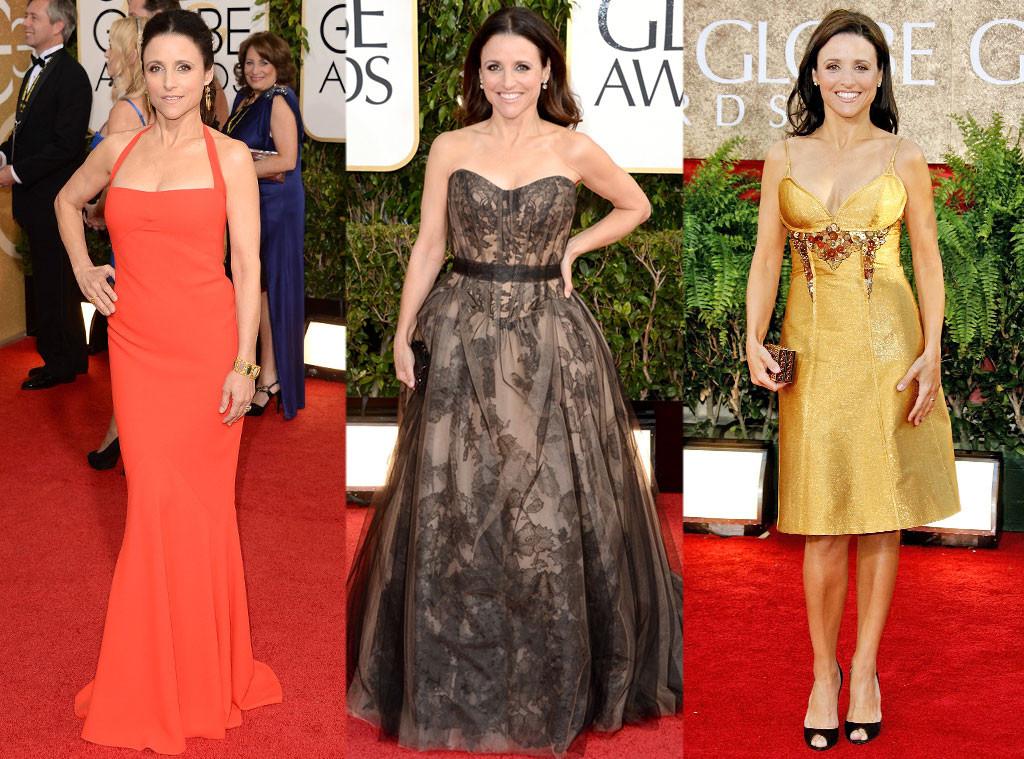 Джулия Луи-Дрейфус в платьях от Narciso Rodriguez, Vera Wang и Carolina Herrera