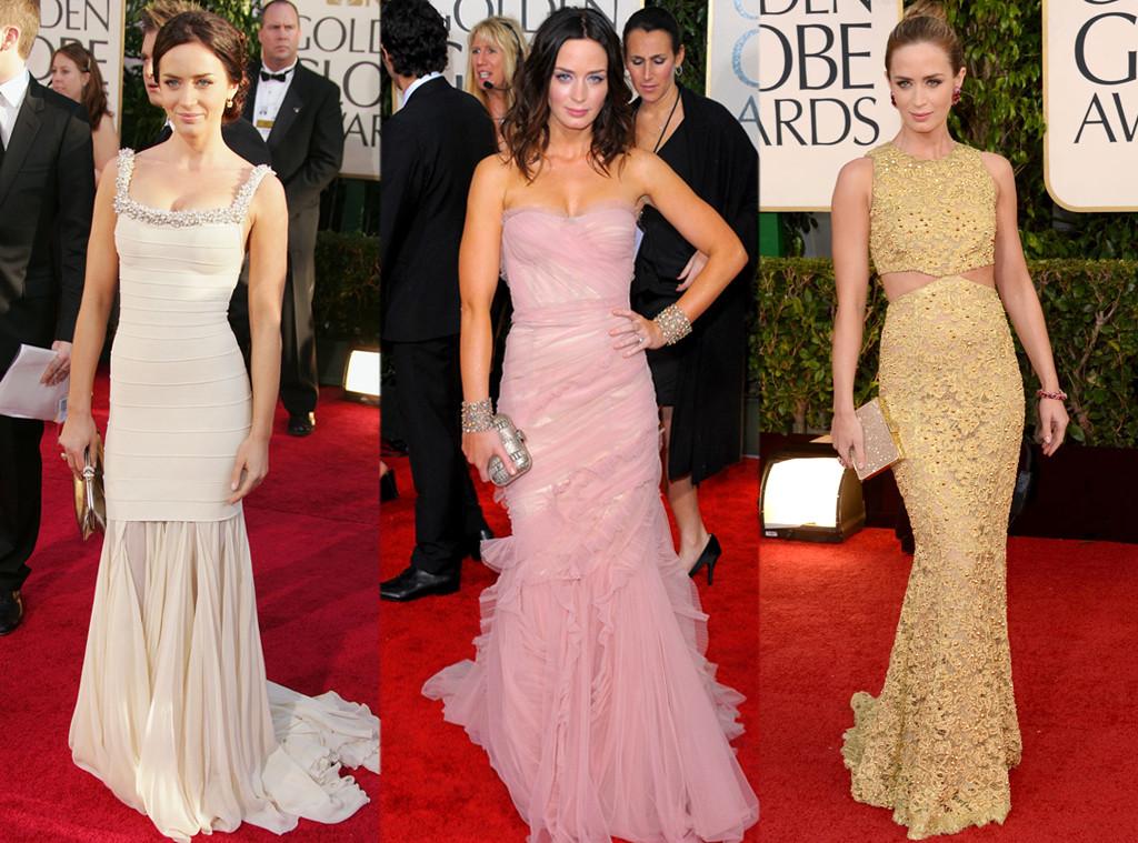 Эмили Блант в платьях от Herve Leger, Dolce & Gabanna и Michael Kors
