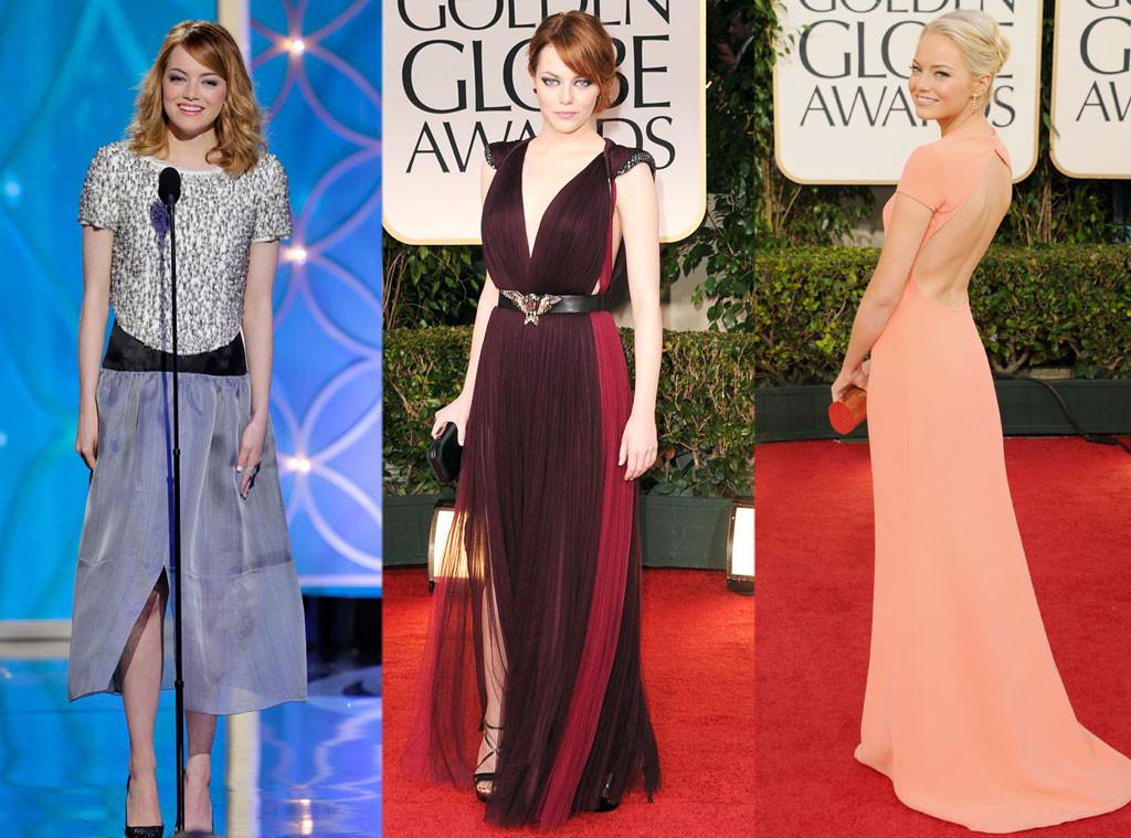 Эмма Стоун в платьях от Chanel, Lanvin и Calvin Klein