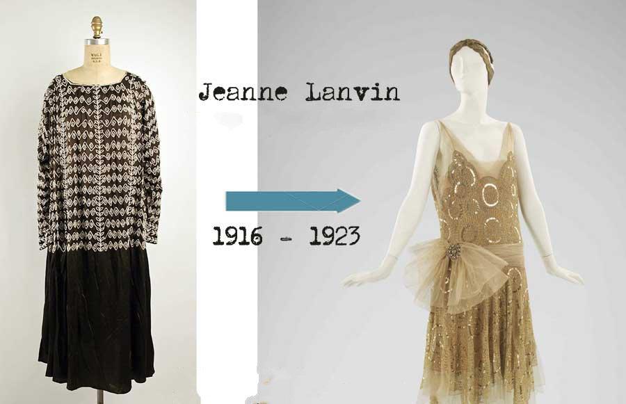 Эволюция платье в от Ланвин от 1916 к 1923 году
