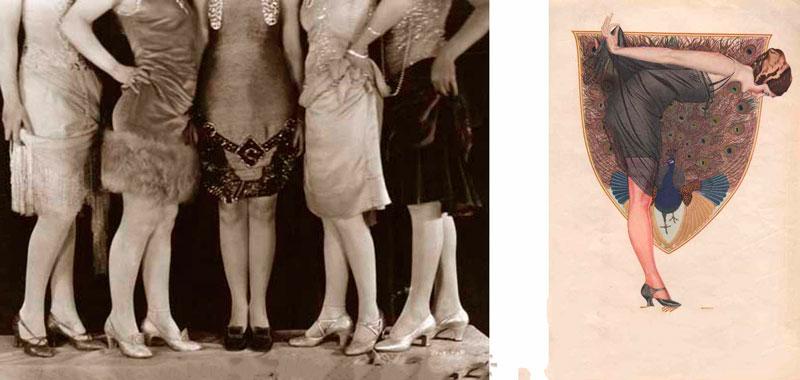 Как в 1920-х годах чулочно-носочные изделия повлияли на длинну подола