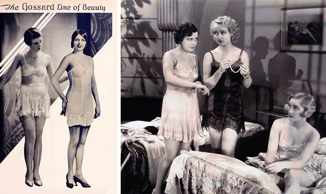 Кэрол Ломбард и другие девушки в модном нижнем белье 1920-е года