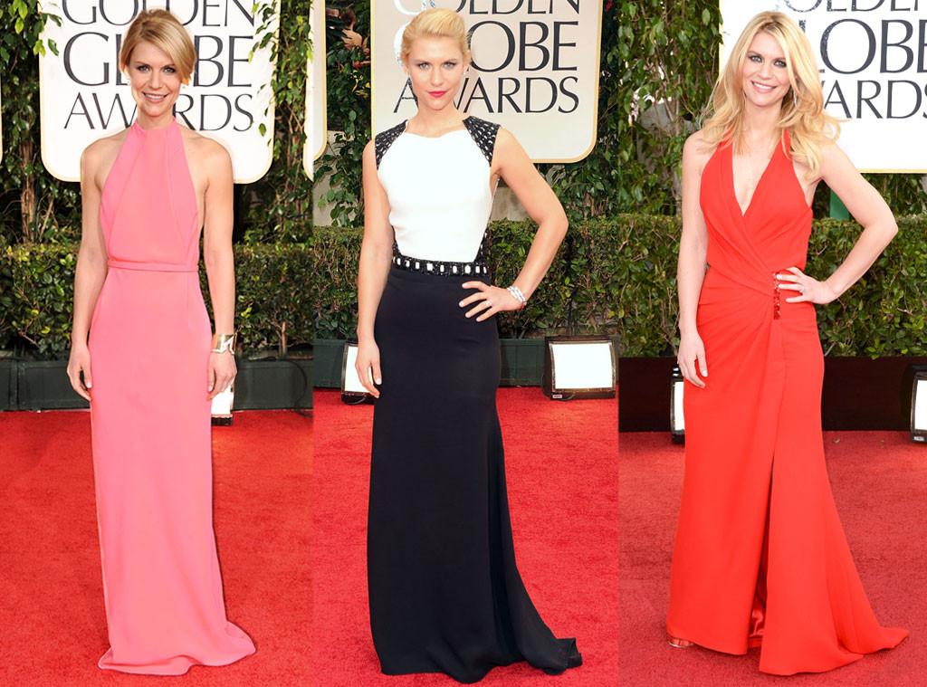 Клэр Дэйнс в платьях от Versace, J. Mendel и Calvin Klein
