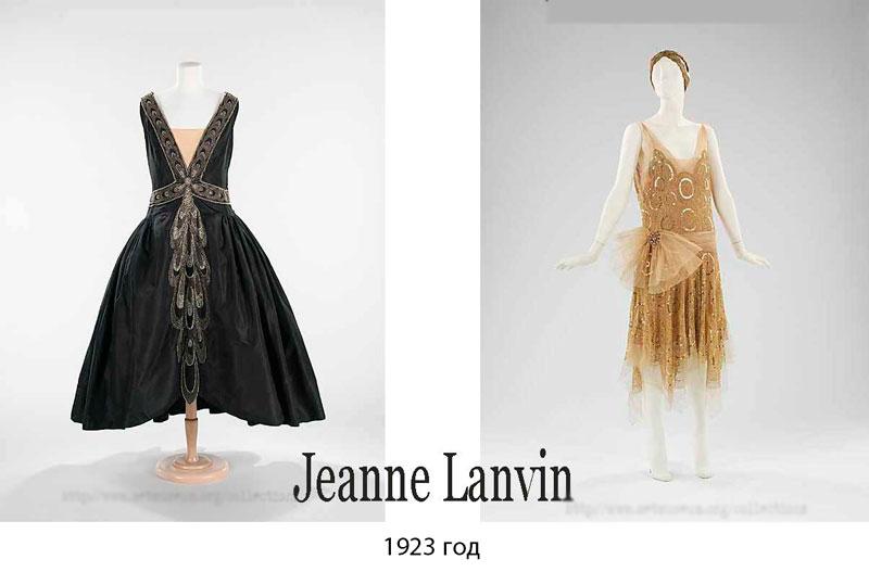 Модели платье 1920-х годов от Lanvin